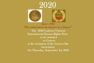 Ludovic-Trarieux International Human Rights Prize 2020